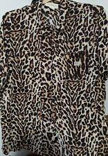 Denim & Supply By Ralph Lauren Cheetah Print Short Sleeve Shirt 2XL New Tags