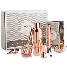 VonShef Conjunto de Coctelera Parisian Premium de cobre en caja de regalo NUEVO