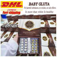 4 x Baby Gluta +Vit C Glutathione Whitening Lightening Brightening wrinkles Skin