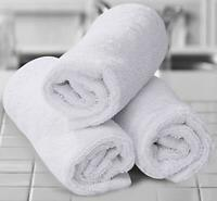 12-Pack: Absorbent 100% Cotton White Kitchen Dish Cloths 12x12 Face Wash Cloth