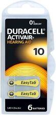 DURACELL ACTIVAIR Mercury Free Apparecchio acustico Batterie Taglia 10 CELLE x60