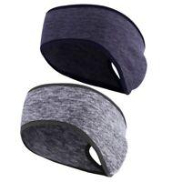 2X(2Pack Aussen Pferdeschwanz Stirnband Ohr WäRmer Kopf Wickeln für Yoga Fi M3P8