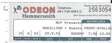 MARILLION 1991 Hammersmith Odeon Used Ticket Stub