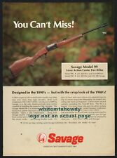 1980 SAVAGE Model 99  (99C and 99E) Lever Action Center Fire Rifle PRINT AD