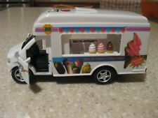 "LAS VEGAS SOFT ICE CREAM TRUCK DIE CAST 5"" OPENING DOOR PULLBACK MOTION"