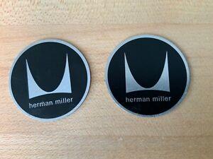 HERMAN MILLER Vintage ORIGINAL LABEL BLACK TAG MEDALLION