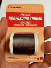 Gudebrod Nylon Rod Winding Thread Size E Dark Gray 100 Yard Spool #441