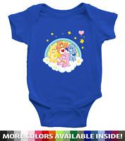 Care Bears Grumpy Cheer Tenderheart Bear Infant Baby Rib Bodysuit Clothes 0-24m