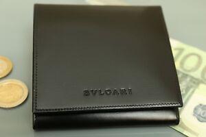 BULGARI Portemonnaie / Geldbeutel, Echtes Kalbs Leder! NEU! wallet leather 854