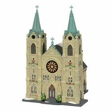 St Thomas Cathedral Dept 56 6003054 Christmas In The City Village snow church Z
