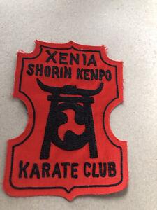Shorin Kenpo vintage Karate Patch Xenia Ohio Gi MMA Fighting
