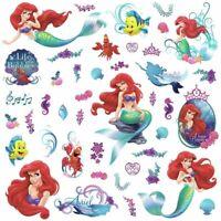 DISNEY LITTLE MERMAID 43 Wall Decals Princess Ariel Sea Room Decor Stickers R5