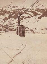 G1422 France - Le téléphérique du Mont-d'Arbois - Stampa d'epoca - 1937 print