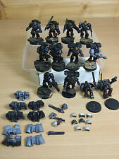 12 PLASTIC SPACE MARINE FLESH TEARER ASSAULT MARINES PAINTED (479)