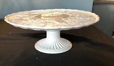 """NEW LENOX Butlers Pantry Cake Stand Plate  Embossed Musical Christmas Fruit 13 """""""