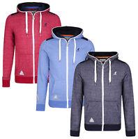 Kangol New Men's Full Zip Hooded Top Fleece Sweatshirt Hoodie Blue Navy Red