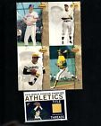 4 CARD PANEL UNCUT ROLLIE FINGERS TED WILLAIMS CO + TOPPS PRISTINE JERSEY