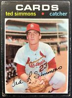 TED SIMMONS 1971 TOPPS VINTAGE ROOKIE CARD #117