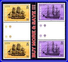 BERMUDA 1988 SHIPWRECKS gutter PAIRS SC#545-46 MNH CV$23.30 SAILING SHIPS