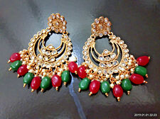 Indian Ethnic Jumka Jumki Bollywood Gold New Kundan Trendy Bali Earrings B 516