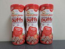 3pk Happy Baby Organic Superfood Puffs Strawberry & Beet, 2.1 oz (BB 10/23/20)
