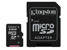 64GB KINGSTON MICRO SD SCHEDA DI MEMORIA SDXC CLASSE 10 con adattatore SD - 64 GB