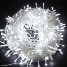 100 LED Fairy Lights Day White Wire String Outdoor Christmas Party Decor UK Plug