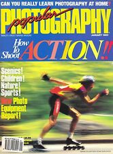 Popular Photography magazine with  CANON & SIGMA 14mm lens tests       Jan  1993