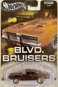 HOT WHEELS •BLVD BRUISERS•  '69 DODGE CHARGER BLACK W/RR & REDLINES VHTF