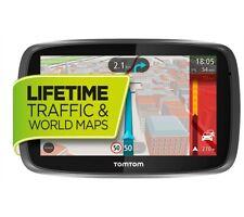 "5"" TomTom GO 510 GPS Sat Nav Lifetime UK & World Maps, Sp.Cam & Traffic via Sm.P"