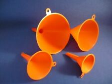 Trichter aus Kunststoff 4-tlg., Ø 50, 73, 95, 115 mm, Farbe: orange !!!