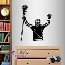 Vinyl Decal Lacrosse Player Champion Sports Boys Bedroom Wall Art Sticker 1582