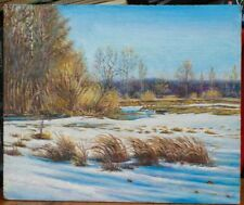 WONDERFUL winter - ORIGINAL OIL Painting from Ukraine! LANDSCAPE WALL decor ART