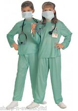 5 Pc Girls Boys Child's Doctor Nurse with Stethescope Fancy Dress Costume Outfit
