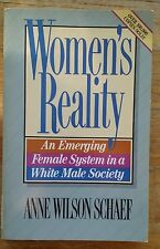 WOMENS' REALITY BY ANNE WILSON SCHAEF 1985 PAPERBACK EXCELLENT CONDITION