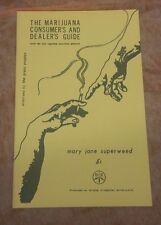 1968 The Marijuana Consumer's And Dealer's Guide Booklet Mary Jane Superweed