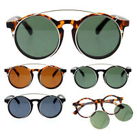 SA106 Detachable Clip On Round Circle Lens Retro Keyhole Glasses Sunglasses