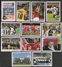 12 FIGURINE CALCIATORI PANINI IL FILM DEL CAMPIONATO 2009-2010 V1-V12 CON TOTTI