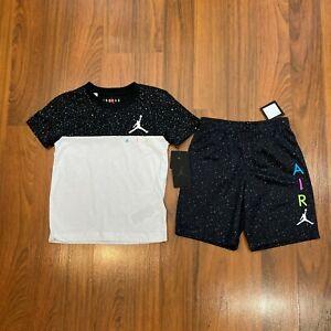 Nike Air Jordan 2pc Set T-shirt Shorts Youth Boy's Size 7 NEW Activewear