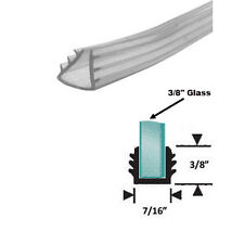 "Clear Shower Door Replacement Glazing Vinyl for 3/8"" Glass - 18 ft"