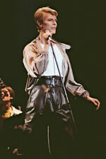 """8""""*12"""" concert photo of David Bowie playing at Newcastle in 1978"""