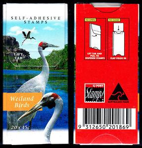 1998 Wetlands Birds Trial folder. No Marks! Has 10 strips of 2 ex roll.  CV $80