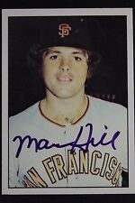 Mark Hill Giants Autographed 1975 SSPC #100 Signed Card RARE 16L