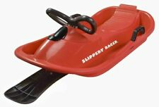 Slippery Racer Downhill Derby Kids Steerable Snow Sled Red