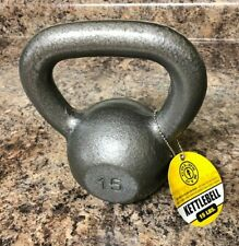 NEW Gold's Gym Cast Iron Kettlebell 15 Lb - 15lbs Total - FAST SHIPPING