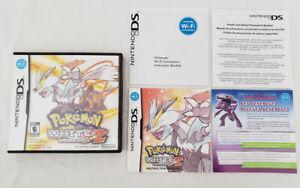 to complete Pokemon White 2 DS AUTHENTIC Case Manual Inserts Nintendo genuine