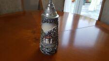 Original KING Bierkrug mit Zinndeckel Sammelkrug