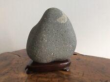 Japanese Vintage Suiseki Stone [ Moon ] / W 15×H17[cm] 2.12kg