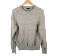 J Crew Factory Mens Sweater Crewneck Gray Cotton