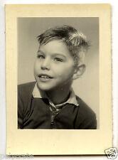 Portrait identité photomaton enfant petite garçon - photo ancienne an. 1950 60